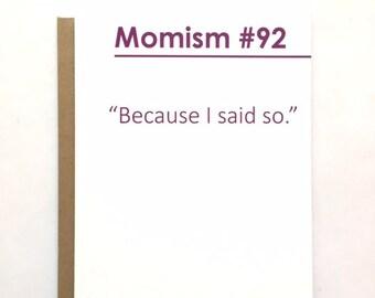 MOMISM #92 - Birthday Card
