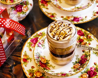 25 Gourmet 7 Layer S'mores in a Jar Favors