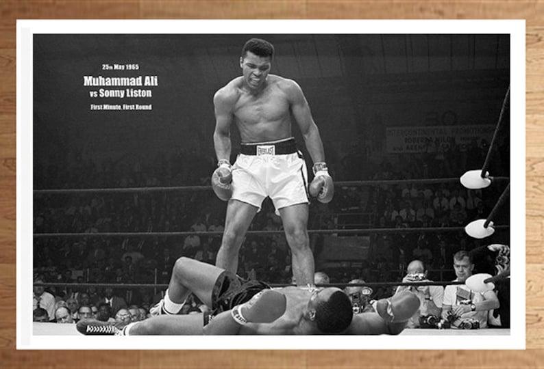 Muhammad Ali Vs Superman Boxing Cassius Clay RIP 11x17 Poster Print