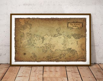 11X17 Game of Thrones Known World Map