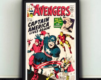 11x17 Avengers #4 Comic Book Cover Poster Print