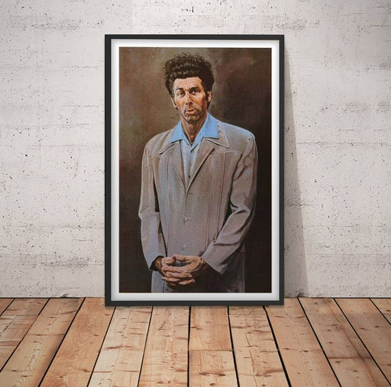 """Kramer Seinfeld Poster Cosmo Wall Art 24/"""" x 36/"""" Painting Gift TV Show Prop"""