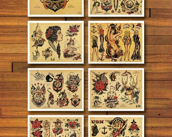 Sailor Jerry Military 8 Page Tattoo Flash Set
