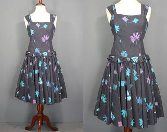 Laura Ashley Dress.......80's-Does-50's Laura Ashley Floral Dropwaist Sundress