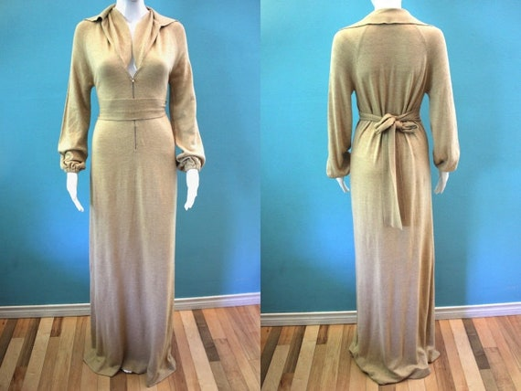 70's Maxi Dress 1970's Neiman Marcus Ultra Luxe Sl