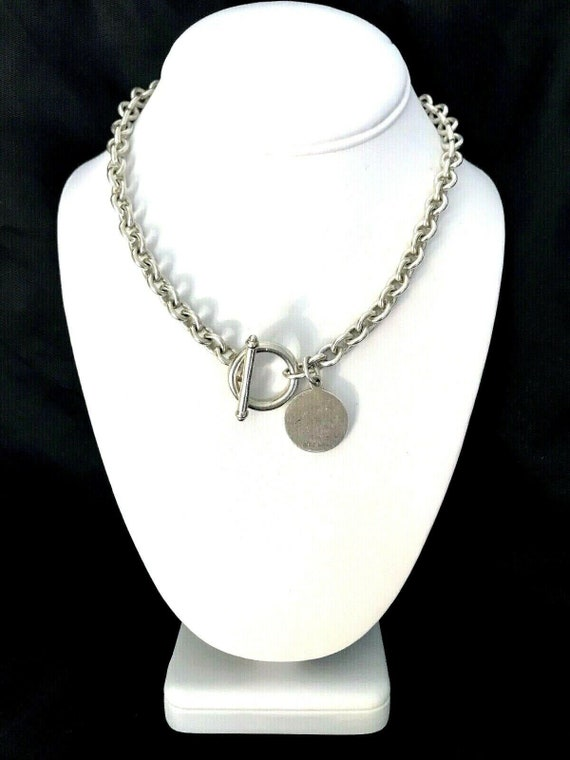 Vintage Tiffany Style Sterling Silver Necklace Chain With Etsy