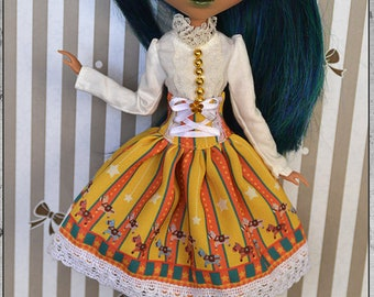 Dress for Pullip Doll and Obitsu size M.