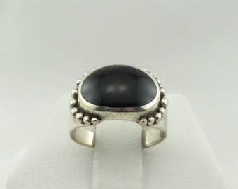 Simple Vintage Black Onyx Sterling Silver Ring FREE SHIPPING!  #SE-SR6
