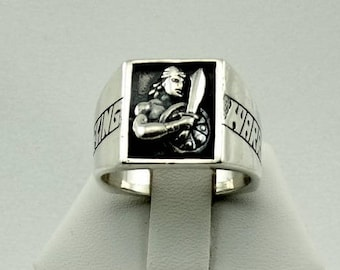 Vintage Stripling Warrior Sterling Silver Ring Size 9 1/2 FREE SHIPPING!  #WARRIOR-L2