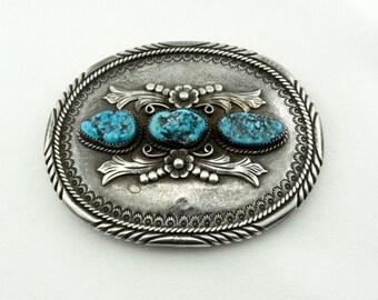 f617020c3688 Collection John Bedoni Navajo Artisan poinçonnés argent Turquoise Kingman  amérindien ceinture boucle livraison gratuite !  BEDONI-BK3