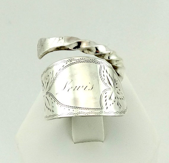 Hand Engraved 'LEWIS' Real Vintage Sterling Silver