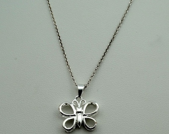 Fun Sterling Silver Butterfly and 16 Inch Chain Set #BTRFLY-SPC2