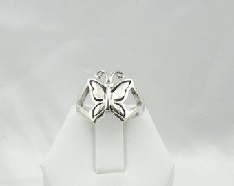 The Perfect Garden Ring...Sterling Silver Butterfly Vintage Ring  #BUTTERFLY-SR3
