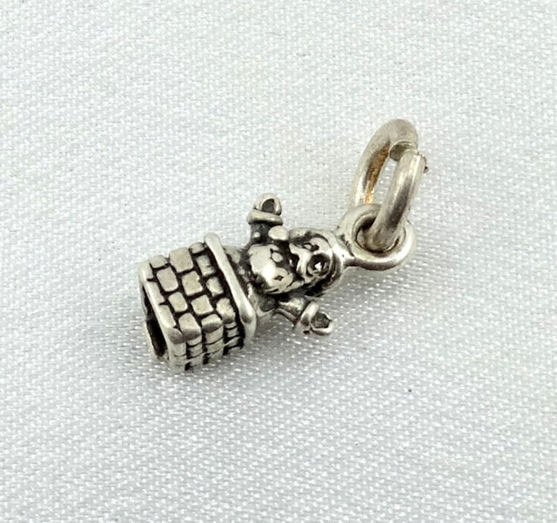 Jack-In-The-Box Vintage Sterling Silver Charm FREE SHIPPING #JACK-CM25