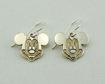 M-I-C-K-E-Y Mouse! Vintage Disney Sterling Silver Dangle Earrings FREE SHIPPING! #MICKEY-EGR4