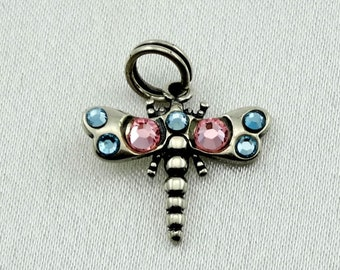 Dragonfly Vintage Solid Sterling Charm FREE SHIPPING!   #DFLY-CM7