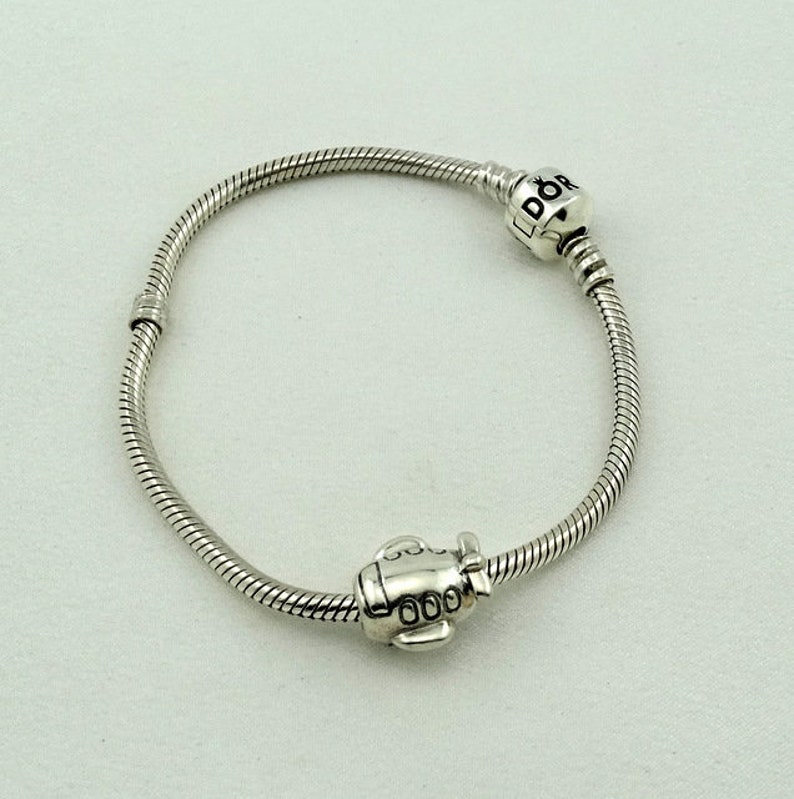 281e2416e Vintage Pandora Sterling Silver Replaceable Charm Bracelet   Etsy