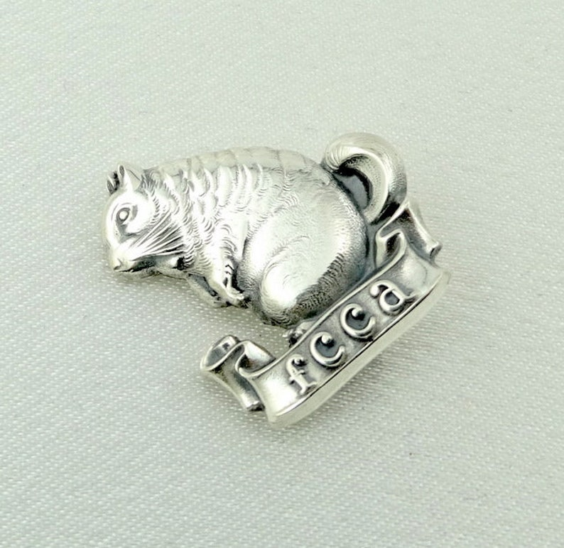 Vintage Sterling Silver Farmers Chinchilla Cooperative Association BroochPin FREE SHIPPING #FCCA-BR2