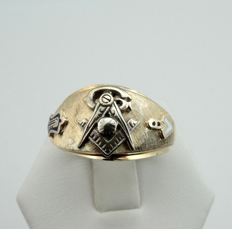 4c26566d0d969 Vintage 1970's 14K Yellow Gold Masonic Fraternal Ring FREE SHIPPING!  #70MASNR_MR