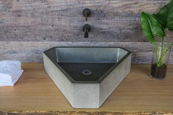 Jacuzzi Triangular.Concrete Sink Triangular Vessel Triangle
