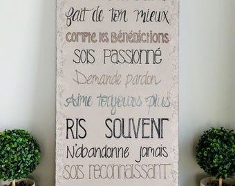 canvas with quotes - acrylic