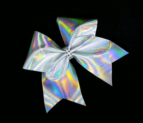Cheer Bows Silver Cheer Bow Holographic Cheer Bow Etsy