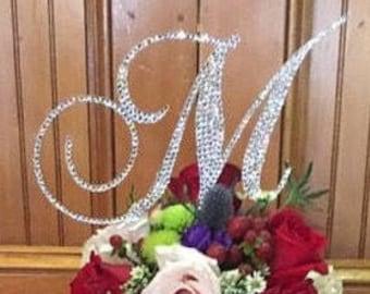 Swarovski Crystal covered Cake Topper for your wedding cake! Bling Cake Letter
