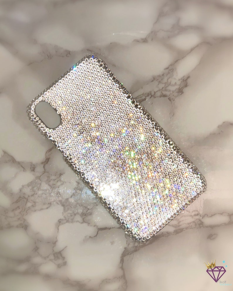 finest selection 04840 f5062 Custom Swarovski crystal covered bling cell phone case