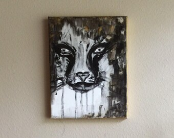 Abstract wild cat