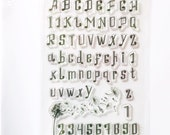 Musical note Alphabet and Number Stamp, Clear Transparent Stamp, Rubber Stamp, Planner Journal , Upper Case, Lower Case, Serif Fonts
