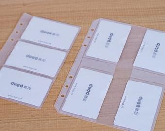 2pcs Filofax style PVC Card Holder - A5 size / Personal Size
