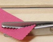 Professional Quality Middle Scalloped Edge 5mm Zig Zag Pinking Shears Dressmaking Scissors Craft