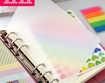 2pcs Blank Planner dividers / A5 Clearly Plastic index / A6 (personal) planner dividers / Dashboard