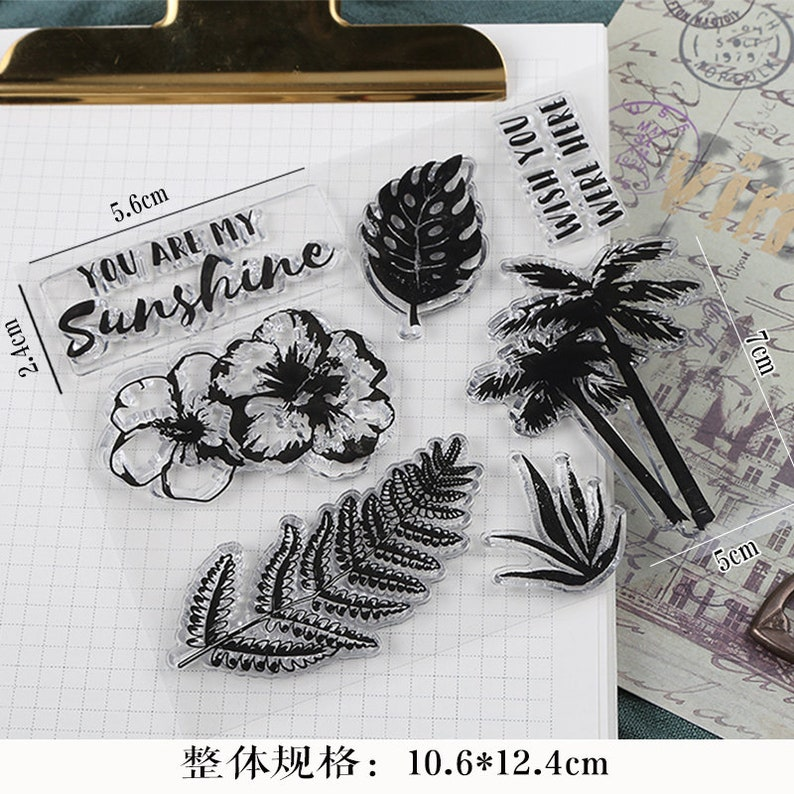 Greenery Leaves Stamp Plant clear stamp sheets Floral Clear Transparent Stamp you are my sunshine Nature