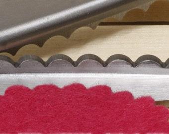 Professional 7mm Large Scalloped Edge Pinking Shears Dressmaking Scissors