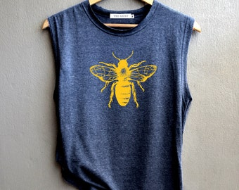 2b2c53f35 Bees Shirt Bees funny insect Shirt bee lover Tank top Shirt Muscle Tank Top  Womens