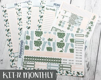 KIT-72 MONTHLY || May BOTANICAL - Monthly Kit Stickers for Planner (Removable Matte Stickers)