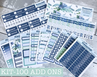 KIT-100 Add-Ons || Winter Floral - Kit Stickers for Planner