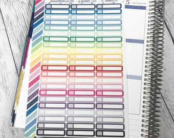S-920 || Skinny Appt Stickers for Planner (66 Removable Matte Stickers)