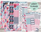 MK-313 WEEKLY quot Soft Succulent quot - Weekly Kit Planner Stickers - 2021 Mini Kits
