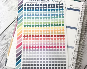 S-130 ||  MINI DOT Stickers for Planner (375 Removable Matte Stickers)