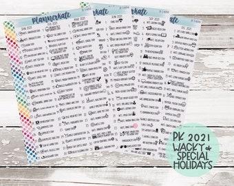 2021 PK Wacky & Special Holidays