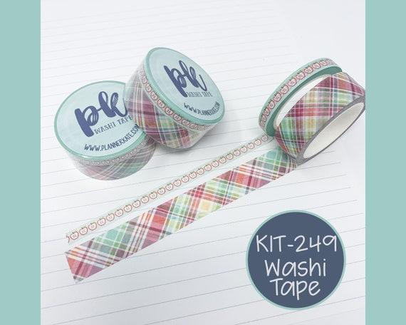 KIT-249 Washi Tape - Apple Picking Sale 15mm /& 6mm set