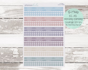 S-1746    EC A5 Monthly Monday - Sunday Change Strips - FLORA