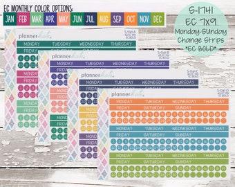 S-1741    EC 7x9 Monthly Monday - Sunday Change Strips - EC BOLD