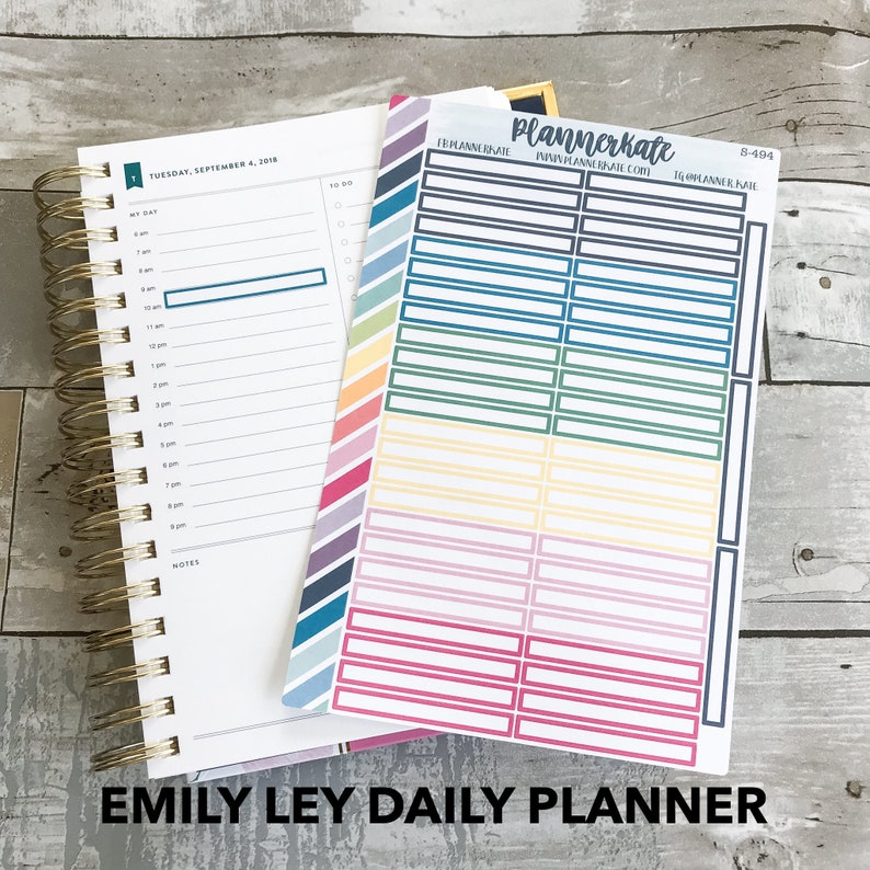 picture relating to Emily Ley Coupon Code referred to as S-494 Emily Ley Every day Planner (1 hour) - Vibrant Labels