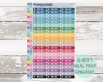 S-1537    Meal Prep Ind Checklist Planner Stickers
