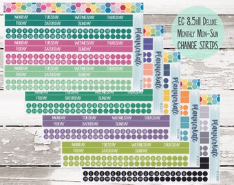 Sale! EC Deluxe (8x11) Monthly Monday - Sunday Change Strips