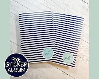 9x6 PK STICKER ALBUMS - Navy