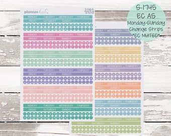 S-1745    EC A5 Monthly Monday - Sunday Change Strips - EC MUTED